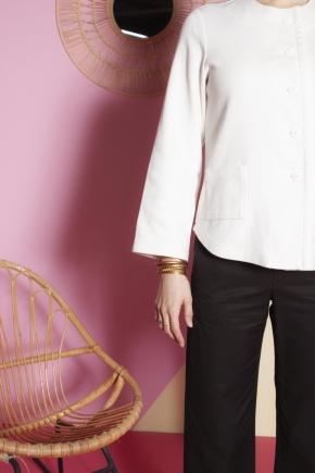 Jacket 48% linen 38% viscose 14% cotton