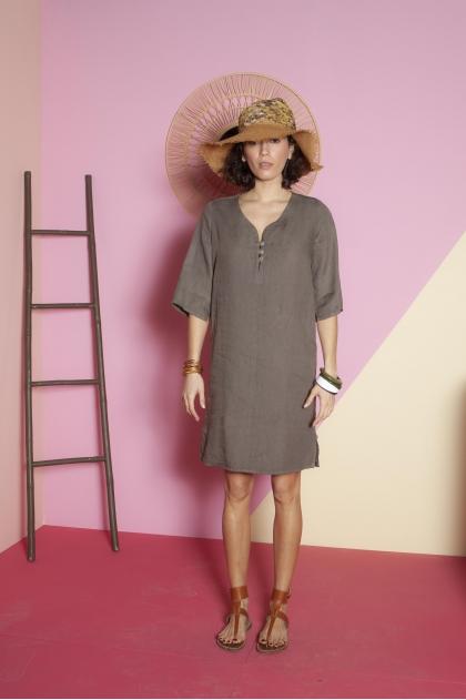 Dress 100% linen