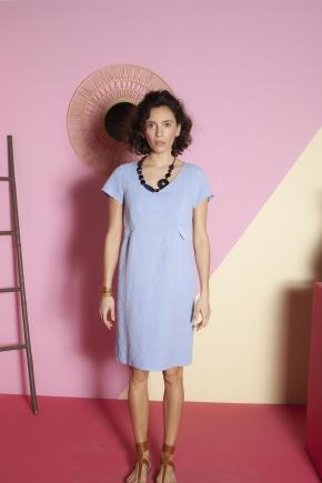 Dress 50% linen 50% viscose