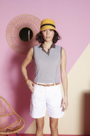 Polo 59% polyester 41% coton