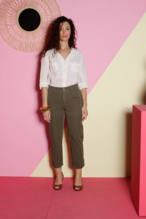 Ankle pants 100% cotton