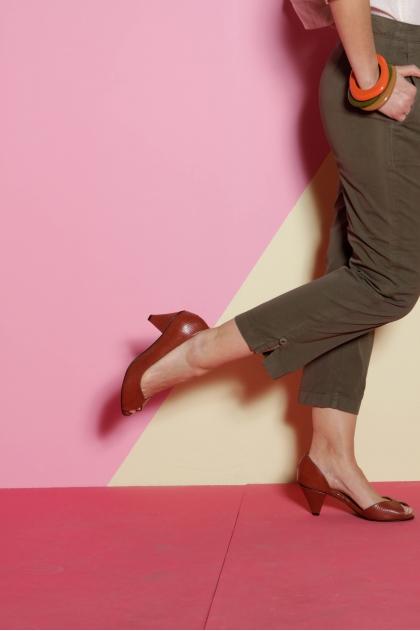 Pantalon à la cheville 100% coton