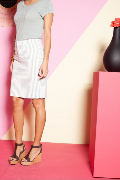 Skirt 67% viscose 30% cotton 3% elastane