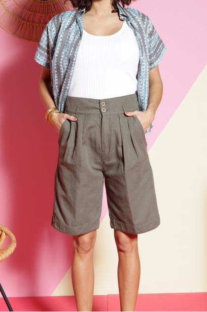 Bermuda shorts 60% cotton 40% linen