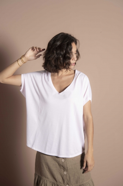"Soft 100% Cotton ""Jersey Feather"" T-shirt"