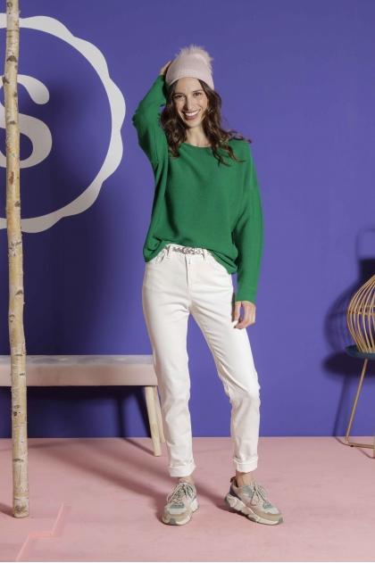 Pants 5 pockets velvet fine ribbed stretch 80% cotton 18% polyamide 2% elastane
