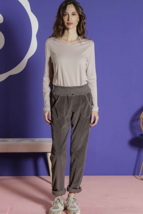 Long-sleeved t-shirt 85% cotton 15% cashmere