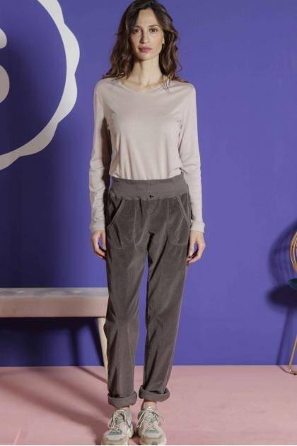 Tee-shirt manches longues 85% coton 15% cashemire