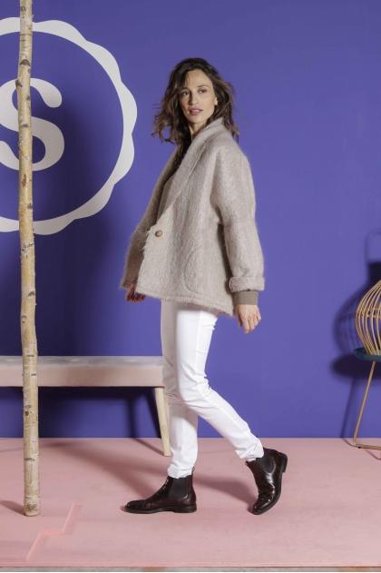 Jacket 64% mohair 28% wool 8% polyamide