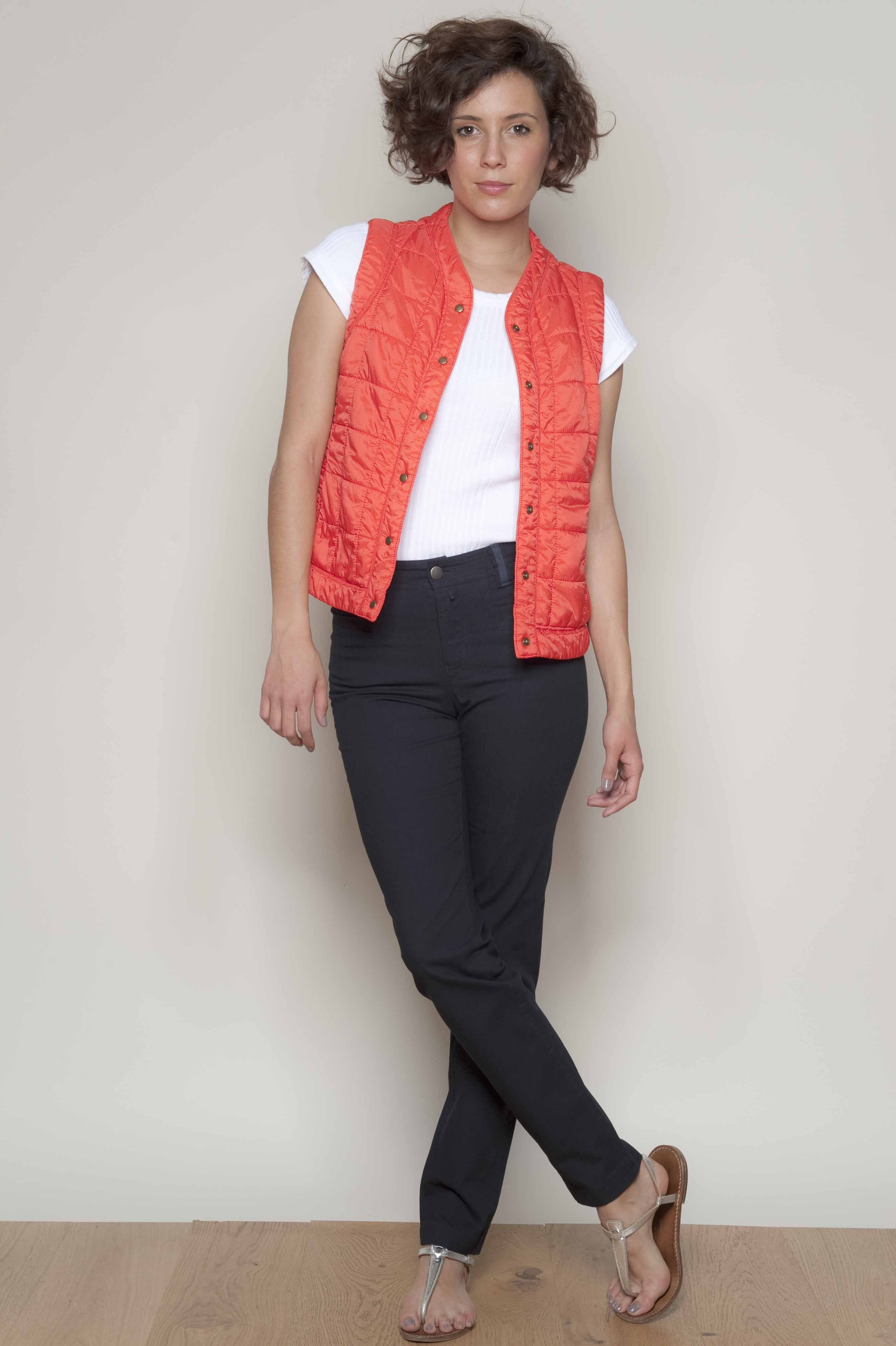 @Sleeveless vest snap-fastened nylon pluck 100 % polyamide