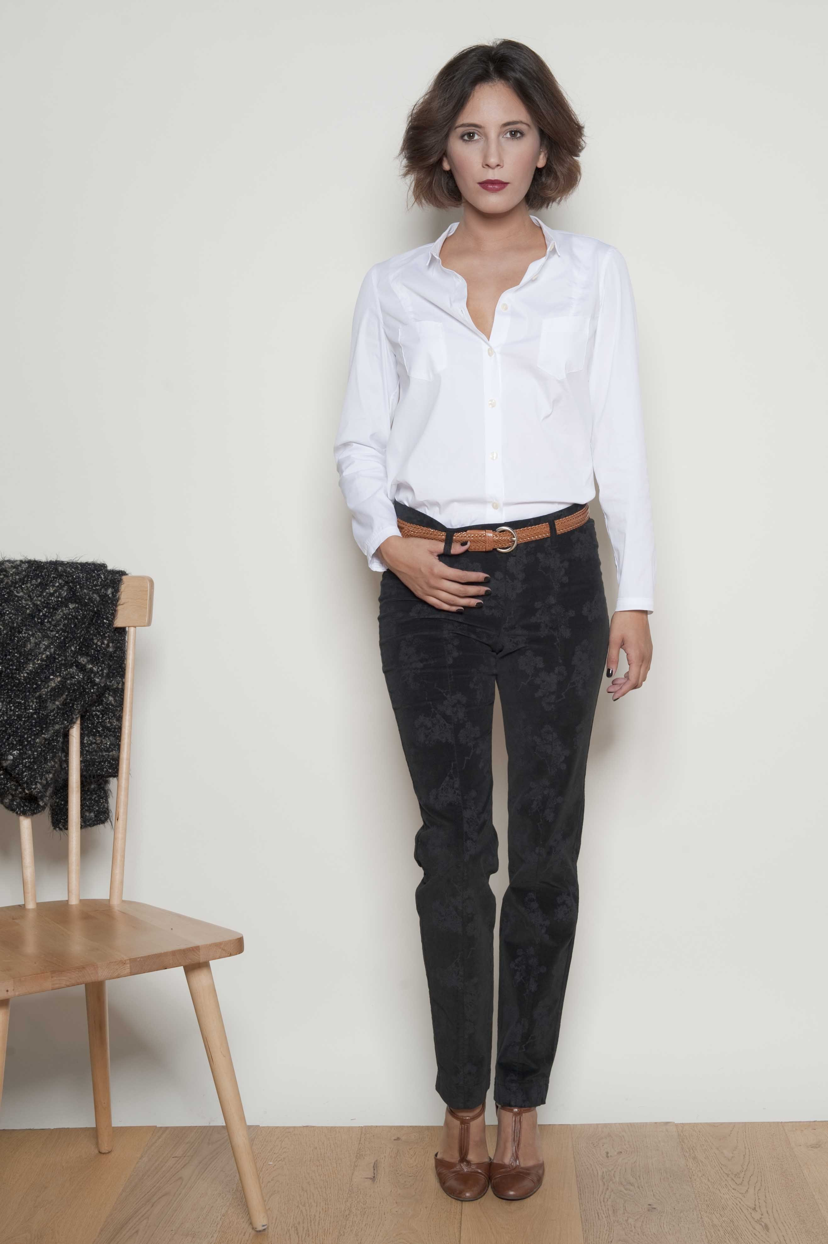 @Trousers with ankle 98% cotton 2% Elasthanne