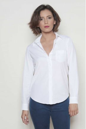 Shirt 78% cotton 18% polyamide 4% elasthanne