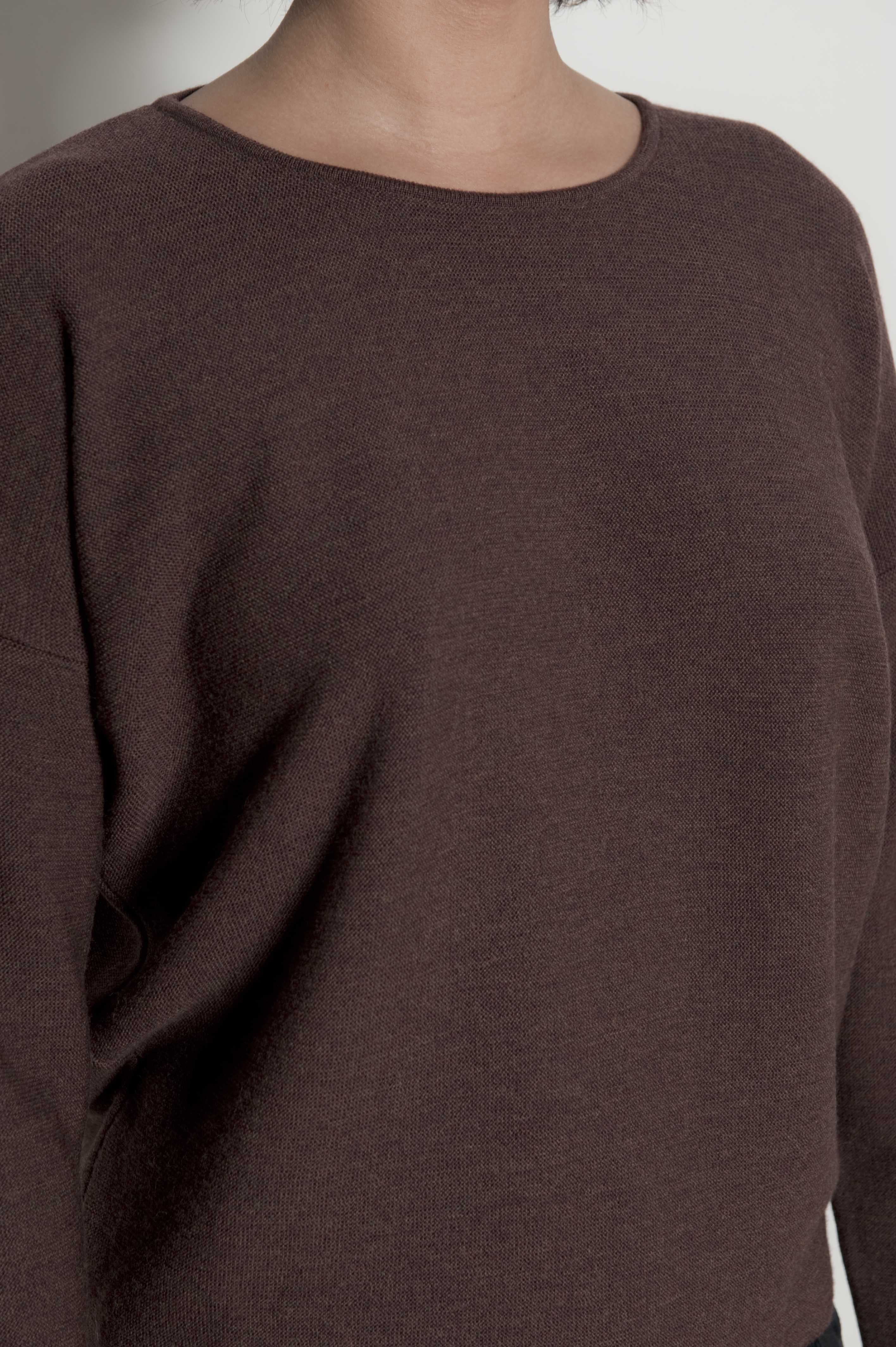 Crew Neck Sweater 100 New Wool Merino Extrafine Sugar