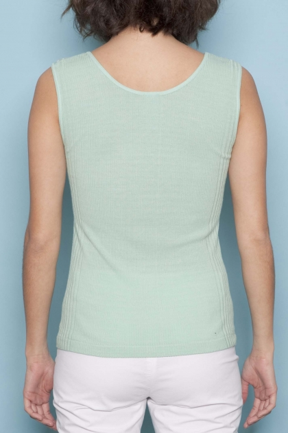 Tank Top knits Richelieu 85 % viscose 15 % silk